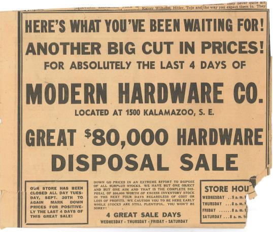 Modern Hardware store west Michigan